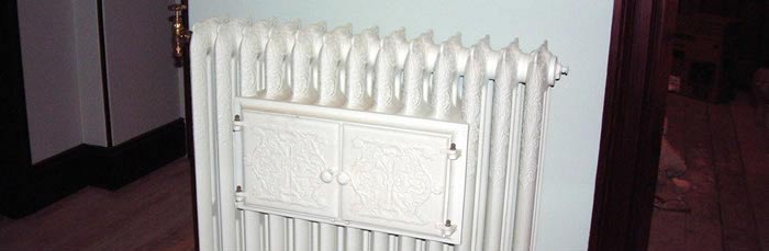 Old radiator being renovated